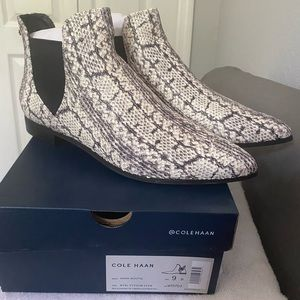Cole Haan Hara Bootie Python Leather